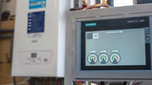 Siemens control screen on HERU